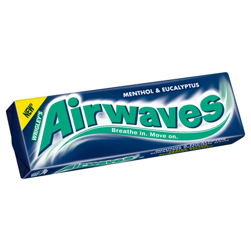 Wrigley's Airwaves Menthol & Eucalyptus- 14g - Pack of 5 (14g x 5)