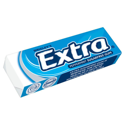 Wrigley's Extra Peppermint - 14g - Pack of 5 (14g x 5)
