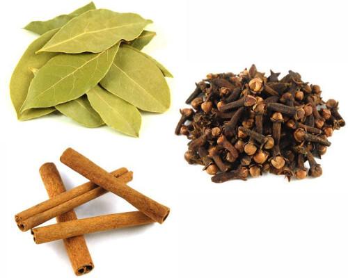 Jalpur Millers Spice Combo Pack - Dry Bay Leaves 100g - Cinnamon Quills - 100g - Cloves 100g (3 Pack)