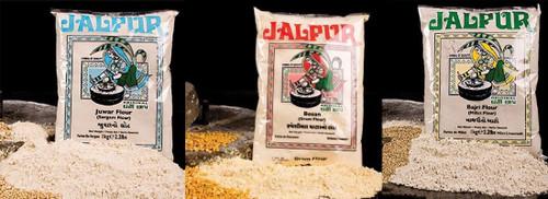 Jalpur Millers Flour Combo Pack - Jalpur Gram Flour 1kg - Jalpur Millet Flour 1kg - Jalpur Sorgham Flour 1kg (3 Pack)