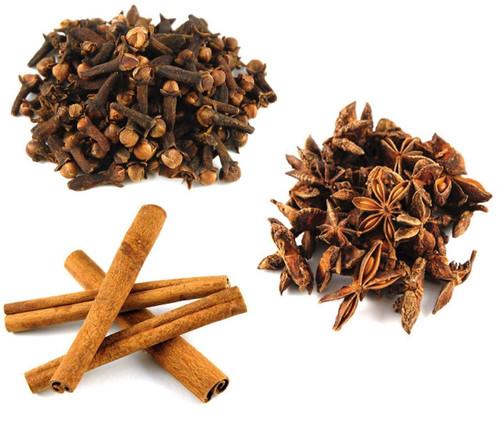 Jalpur Millers Spice Combo Pack - Star Anise 100g - Cinnamon Quills 100g - Cloves 100g (3 Pack)