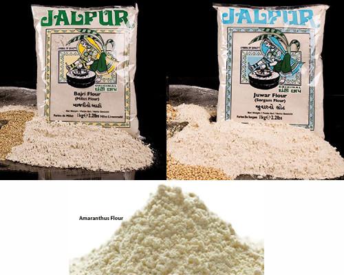 Jalpur Millers Flour Combo Pack - Jalpur Millet Flour 1kg - Jalpur Sorgham Flour 1kg - Jalpur Amaranth Seeds Flour - 500g (3 Pack)