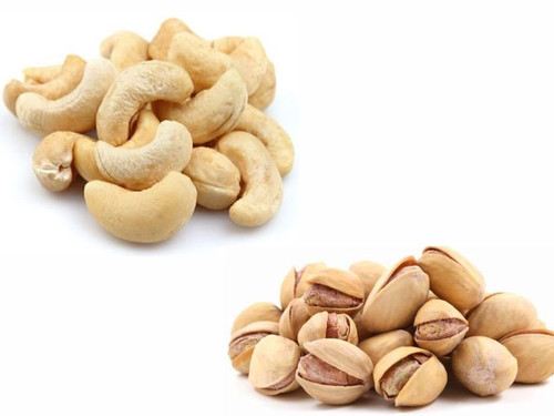 Jalpur Millers Nuts Combo Pack - Salted Pistachio 1kg - Cashew Nuts Whole 1kg (2 Pack)