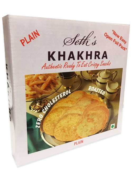 Seth's - Khakhara Authentic Crispy Snack - Plain Flavour - 200g (Pack of 2)