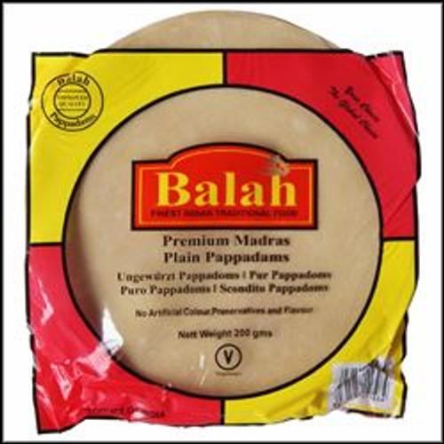 Balah - Plain Madras Pappadams Restuarant Style - 200g