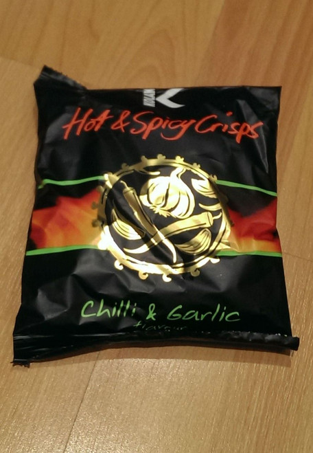 Kolak - Chilli & Garlic Crisps - 25g (Pack of 10)