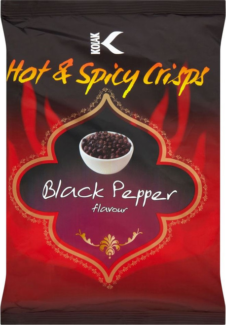 Kolak - Black Pepper Crisps - 25g (Pack of 36)