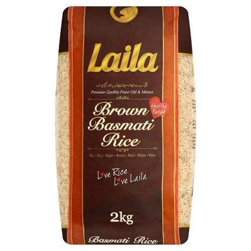 Laila - Brown Basmati Rice - 2kg (Pack of 2)
