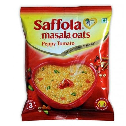 Saffola - Masala Oats Peppy Tomato - 40g (Pack of 2)