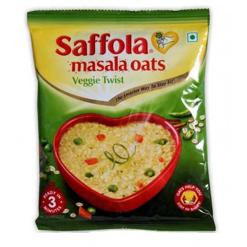 Saffola - Masala Oats Veggie Twist - 40g (Pack of 4)