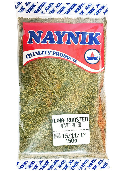 Naynik - Salted & Roasted Ajwain/Carom (Indian Mouth Freshner) - 150g (Pack of 2)