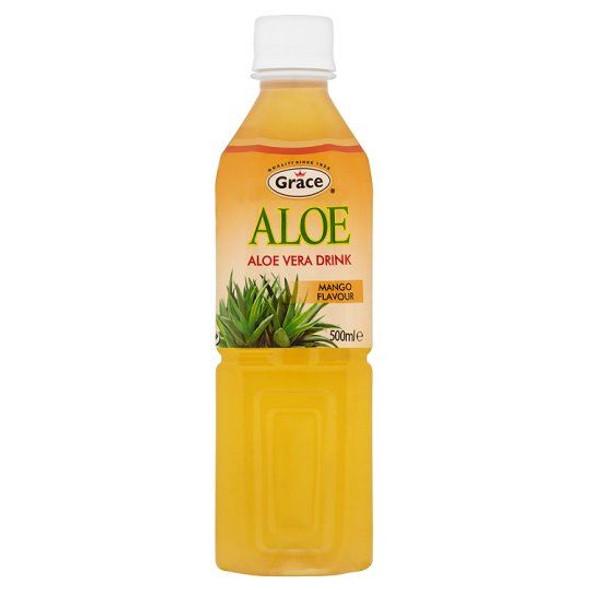 Grace Aloe Vera & Mango Juice Drink - 500ml - Single Bottle (500ml x 1 Bottle)