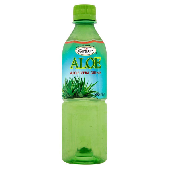 Grace Original Aloe Vera Juice Drink - 500ml - Single Bottle (500ml x 1 Bottle)