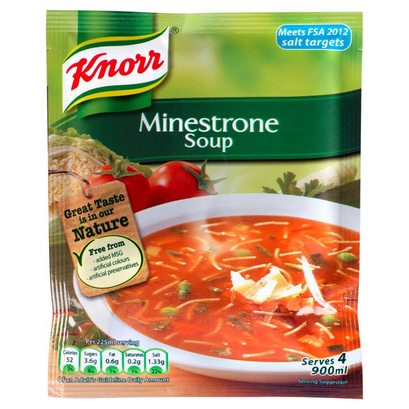 Knorr Minestrone Soup - 62g - Pack of 4 (62g x 4)