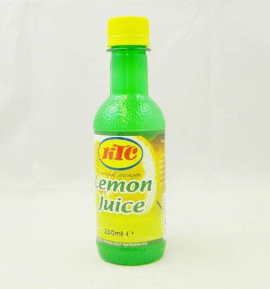KTC Lemon Juice from Concentrate 250ml - Pack of 5