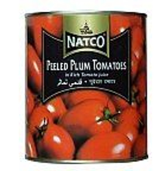 Natco Peeled Plum Tomatoes in Rich Tomato Juice 400g Pack of 2