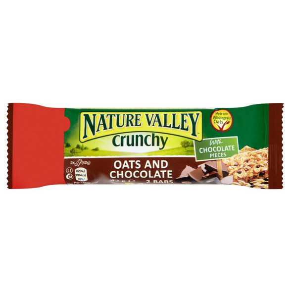 Nature Valley Oats & Chocolate Bar - 42g - Pack of 3 (42g x 3)