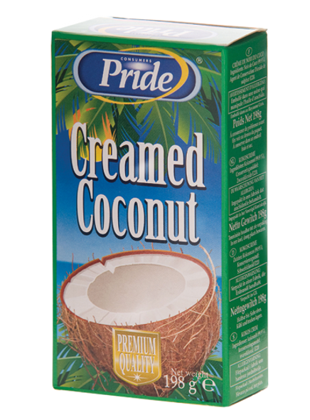 Pride Pure Creamed Coconut 198g Pack of 3
