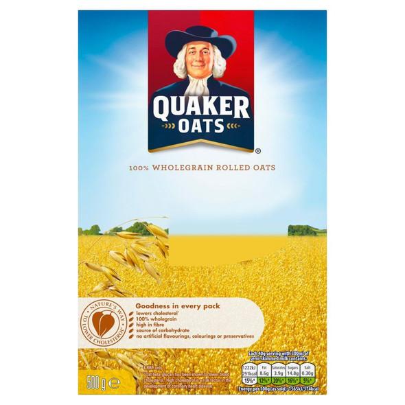 Quaker Oats - 500g - Single Box (500g x 1 Box)