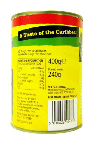 Sea Isle - Gungo Peas in Salted Water - 400g (pack of 2)