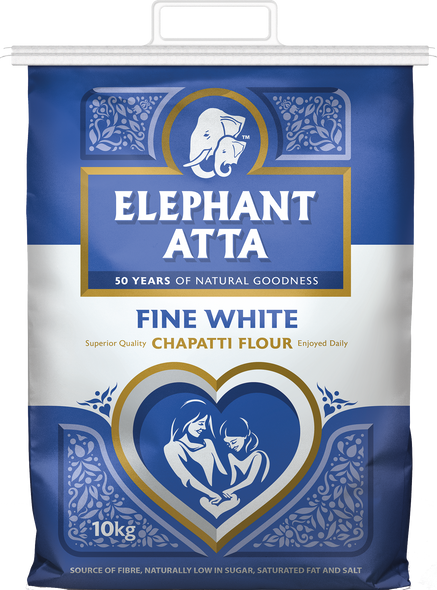 Elephant Atta Fine White Chapatti Flour - 10kg