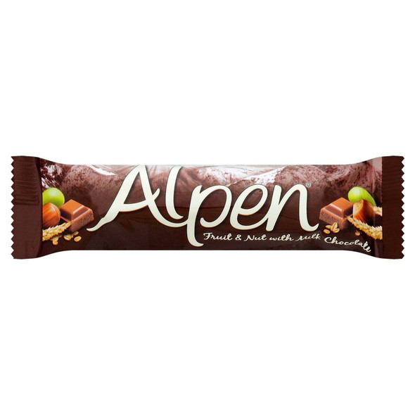 Alpen Fruit & Nut With Milk Chocolate Cereal Bar - 29g - Pack of 6 (29g x 6 Bars)