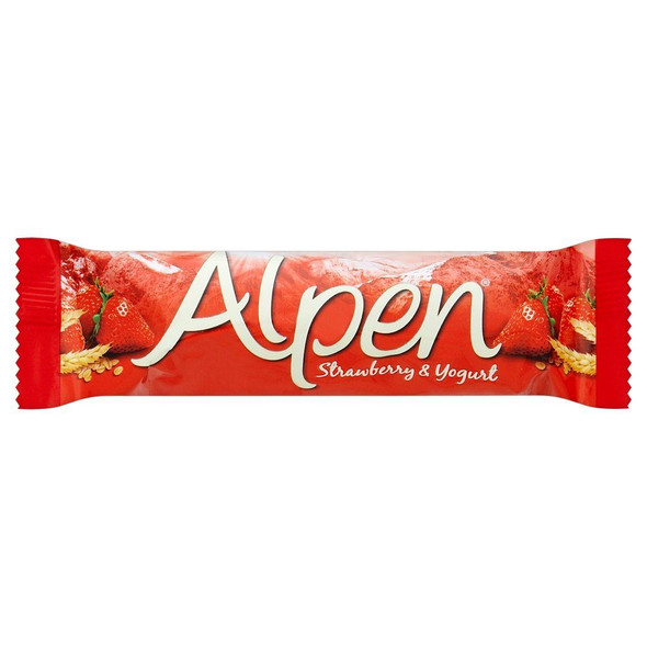 Alpen Strawberry & Yogurt Cereal Bar - 29g - Pack of 3 (29g x 3 Bars)