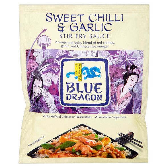 Blue Dragon Chilli & Garlic Stir Fry Sauce - 120g - Pack of 6 (120g x 6)