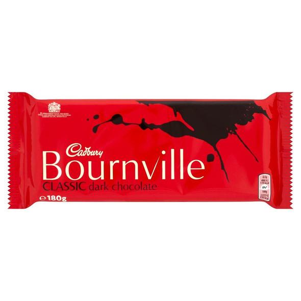 Cadburys Bournville Dark Chocolate - 180g - Pack of 4 (180g x 4 Bars)