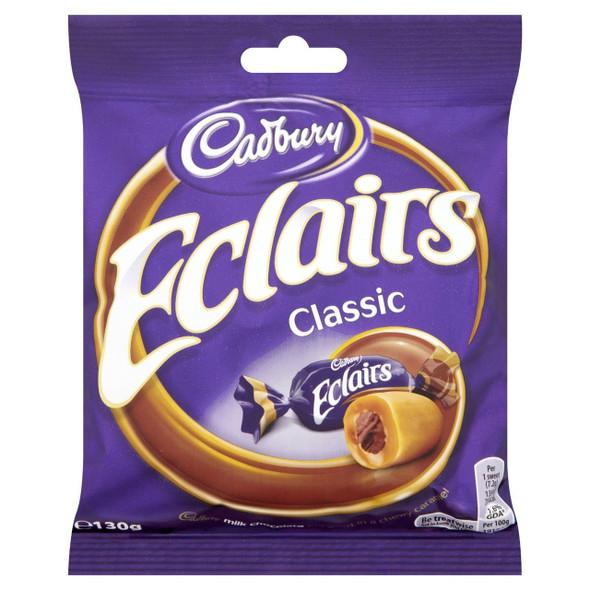 Cadburys Chocolate Eclair Bag  - 130g - Pack of 4 (130g x 4 Bags)