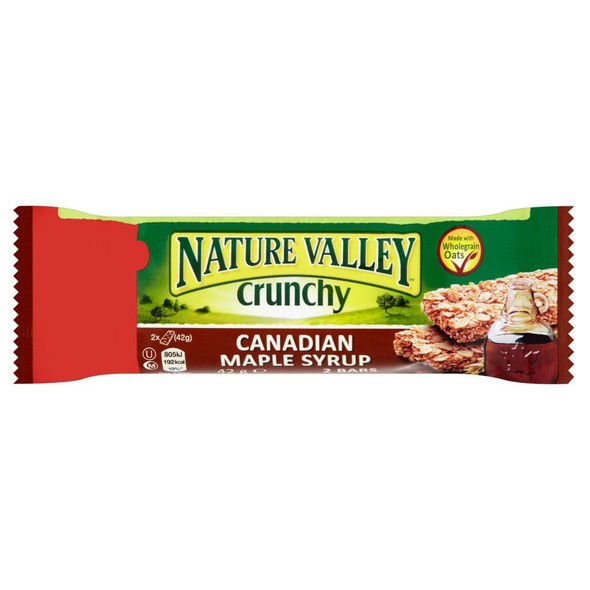 Nature Valley Maple Syrup Bar - 42g - Pack of 12 (42g x 12)