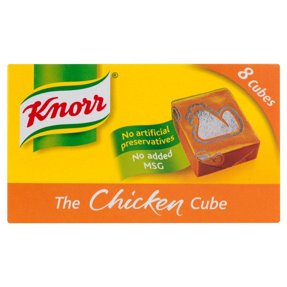 Knorr Chicken Stock 8 Cubes - 80g - Pack of 8 (80g x 8)