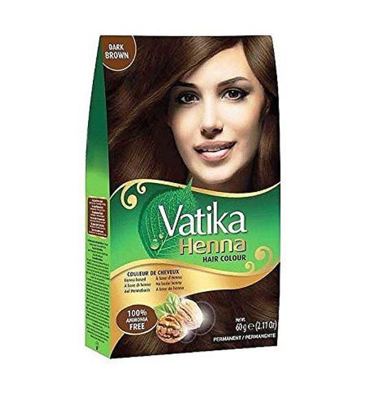 Dabur Vatika Henna Hair Colour Dark Brown - 60g