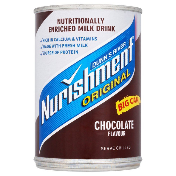 Dunn's River Nurishment Chocolate Flavour - 400g - Pack of 2 (400g x 2 Cans)