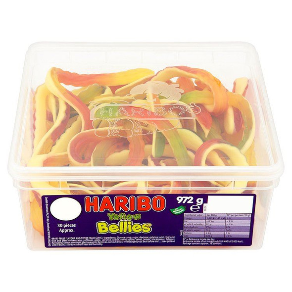 Haribo Yellow Bellies - 972g - Approx 30 Pieces