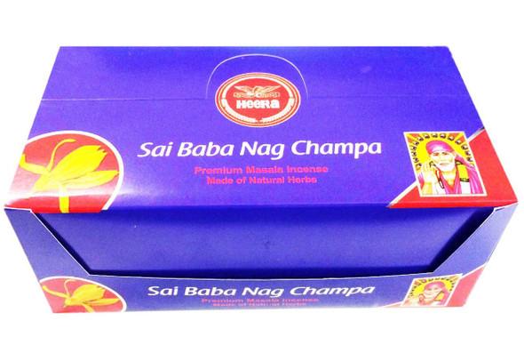 Heera - Sai Baba Nag Champa - 15g each (Pack of 12)