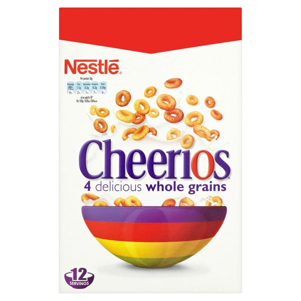 Nestle Cheerios - 375g - Pack of 2 (375g x 2 Boxes)