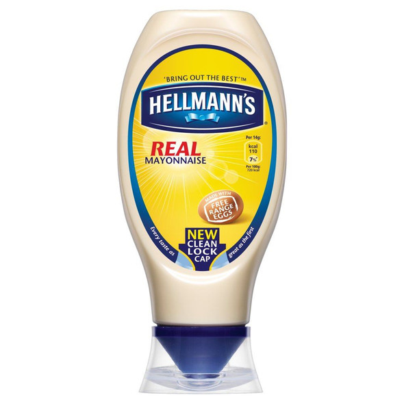 Hellmanns Real Squeezy Mayonnaise - 430ml - Pack of 2 (430ml x 2)