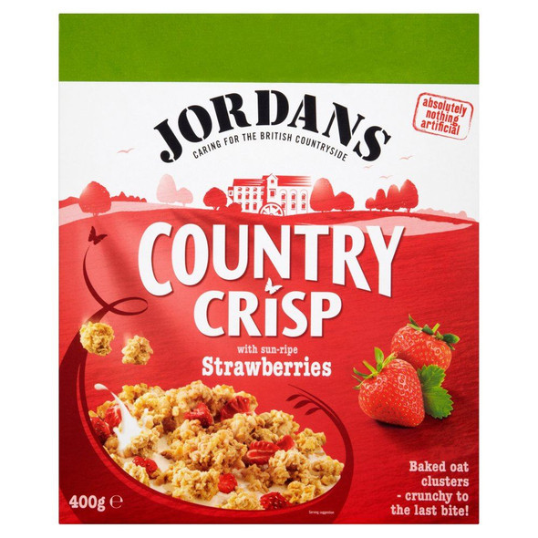 Jordans Country Crisp Strawberry - 400g - Pack of 2 (400g x 2 Boxes)