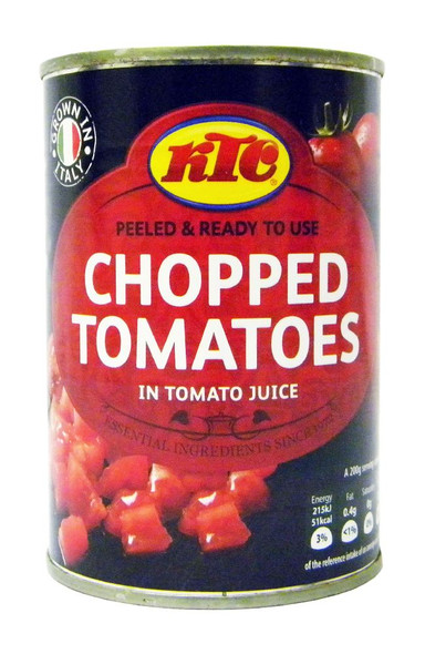 KTC - Chopped Tomatoes - 400g (pack of 4)