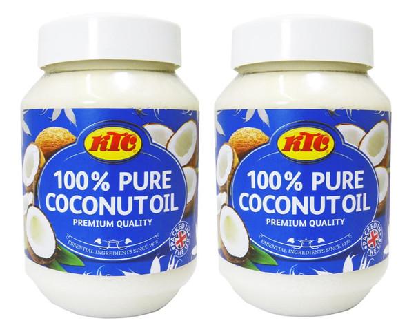 KTC 100% Pure Coconut Multipurpose Oil 500ml Jar x 2 Qty
