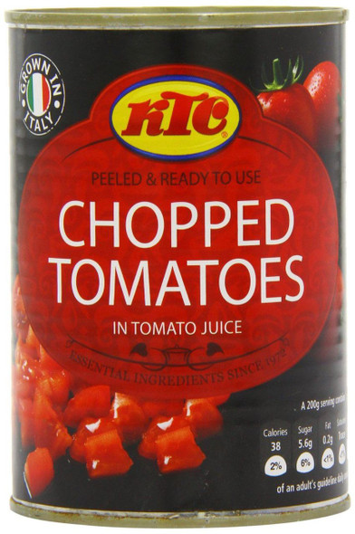 Ktc Chopped Tomatoes Pack of 12 -12 x 400g