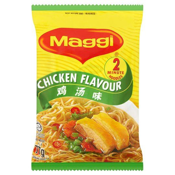 Maggi 2 Minute Noodles Chicken Flavour - 77g - Pack of 4 (77g x 4)