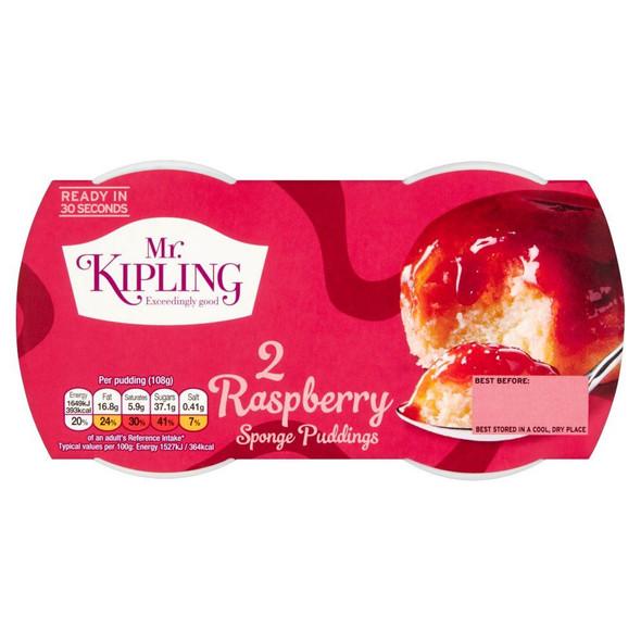 Mr Kipling Sponge Pudding Raspberry - Pack of 4