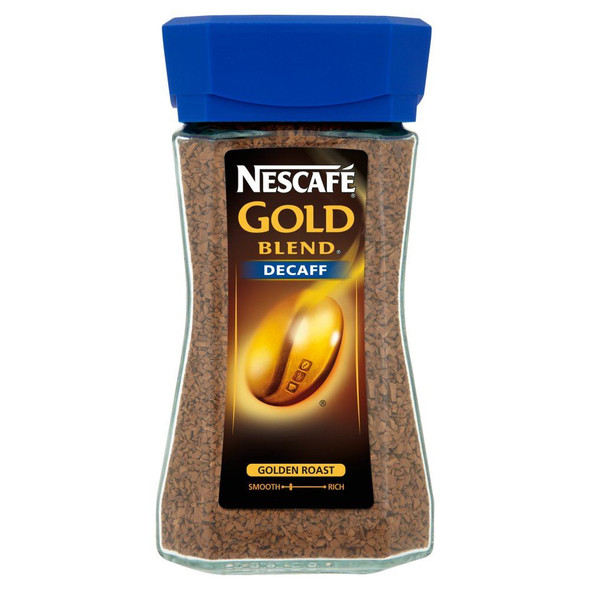 Nescafe Gold Blend Decaffinated Instant Coffee - 100g - Pack of 4 (100g x 4)