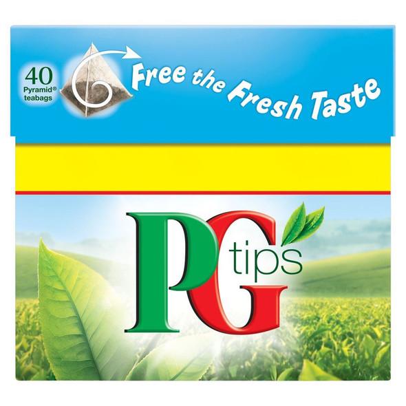 PG Tips Tea Bags - 40's Pack of 4 (40's x 4)