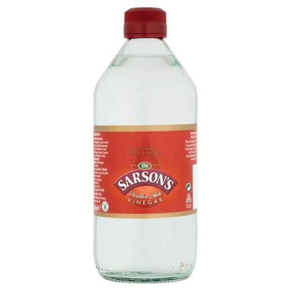 Sarsons Distilled Malt Vinegar - 568ml - Pack of 2 (568ml x 2)