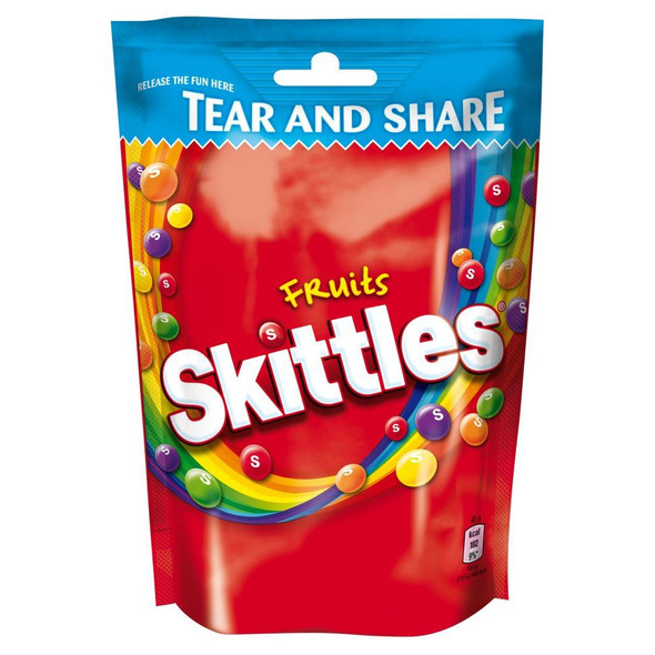 Skittles Pouch - 174g - Pack of 4 (174g x 4 Pouches)