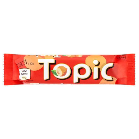 Topic Chocolate Bar - 47g - Pack of 12 (47g x 12 Bars)