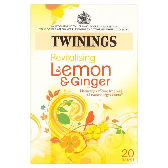 Twinings Lemon & Ginger Tea - 20s - Pack of 4 (20s x 4)